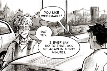 bigbigtruck:  bigbigtruck:  (Early) Update for Tuesday, May 29, 2012: Pages 300 and 301 In which TJ does his best impression of Oglaf's Labyrinth Guy  reblag for the day crew  I lost my shit at this face. I laughed so hard I giggle-snorted Urkle style.