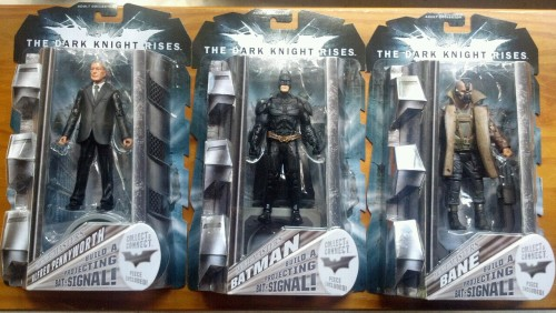 New TDKR figures from Toys R Us. Alfred, Batman and Bane