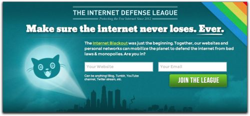 "futurejournalismproject:  The Internet Defense League The Internet can always use more heroes and Alexis Ohanian, founder of Reddit, and Fight for the Future have formed the Internet Defense League to make it so. Public enemy number one: ACTA and CISPA style legislation that seems to sprout like mushrooms these days. Via Forbes:  Ohanian describes the project, which they plan to officially launch next month, as a ""Bat-Signal for the Internet."" Any website owner can sign up on the group's website to add a bit of code to his or her site–or receive that code by email at the time of a certain campaign–that can be triggered in the case of a political crisis like SOPA, adding an activist call-to-action to all the sites involved, such as a widget or banner asking users to sign petitions, call lawmakers, or boycott companies. ""People who wish to be tapped can see, oh look, the Bat-Signal is up. Time to do something,"" says Ohanian. ""Whatever website you own, this is a way for you to be notified if something comes up and take some basic actions…If we aggregate everyone that's doing it, the numbers start exploding.""  Developers are encouraged to join the League. GitHub is here, a Google Group here and Tracker is here.  Love that Alexis Ohanian has jumped into online activism with both feet. It may be an even bigger gift to the Web than Reddit was."