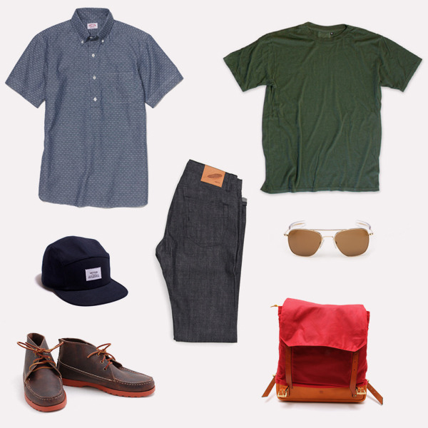 free-man:  Spring Kit Nº7 – Beach BBQ  That's a good look. #rogueterritory #greycaste #stantons #japanese #selvedge #denim #summer #look