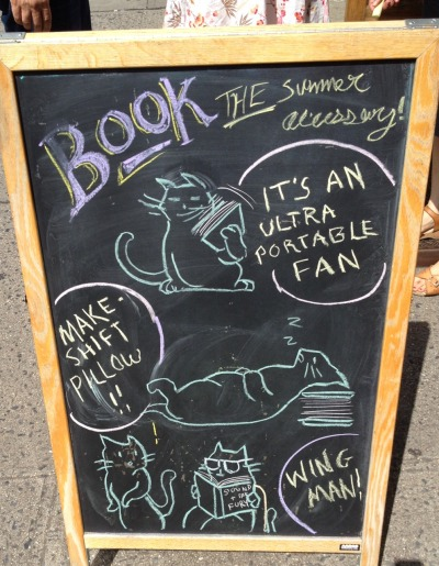 communitybookstore:  Important things to remember about books and summer reading. Drawn by A.C.