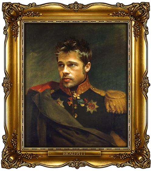 Buy this portrait here:http://bit.ly/replacefaceprints_BradPitt
