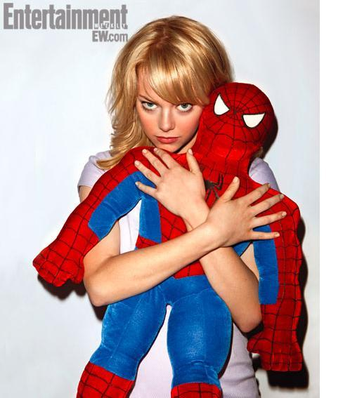 entertainmentweekly:  Exclusive Amazing Spider-Man photos — featuring Emma Stone, Andrew Garfield, and this cuddly little spider-guy — await you at EW.com.