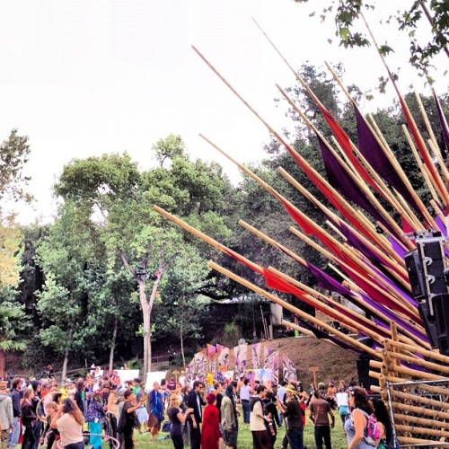 lightninginabottlefestival:  The Bamboo stage is now serving up organic beats! #libfestival #bamboodna #festival (Taken with instagram)  yes, I'm going to be sharing lots of photos from Lib.  It makes me feel like I am at one of my favorite festivals ever!  Imagine hanging with your friends, dancing, hula hooping, smiling, enjoying time together.  love love love this festival!