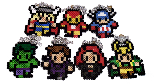 weeabootique:  Full avengers set complete! All necklaces available here! Edit: Want to buy the entire set at a discounted rate? Now you can! Click here for the listing.