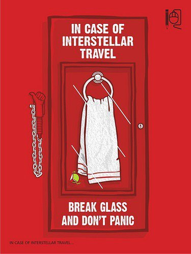 In Case of Interstellar Travel - May 25th, Towel Day.