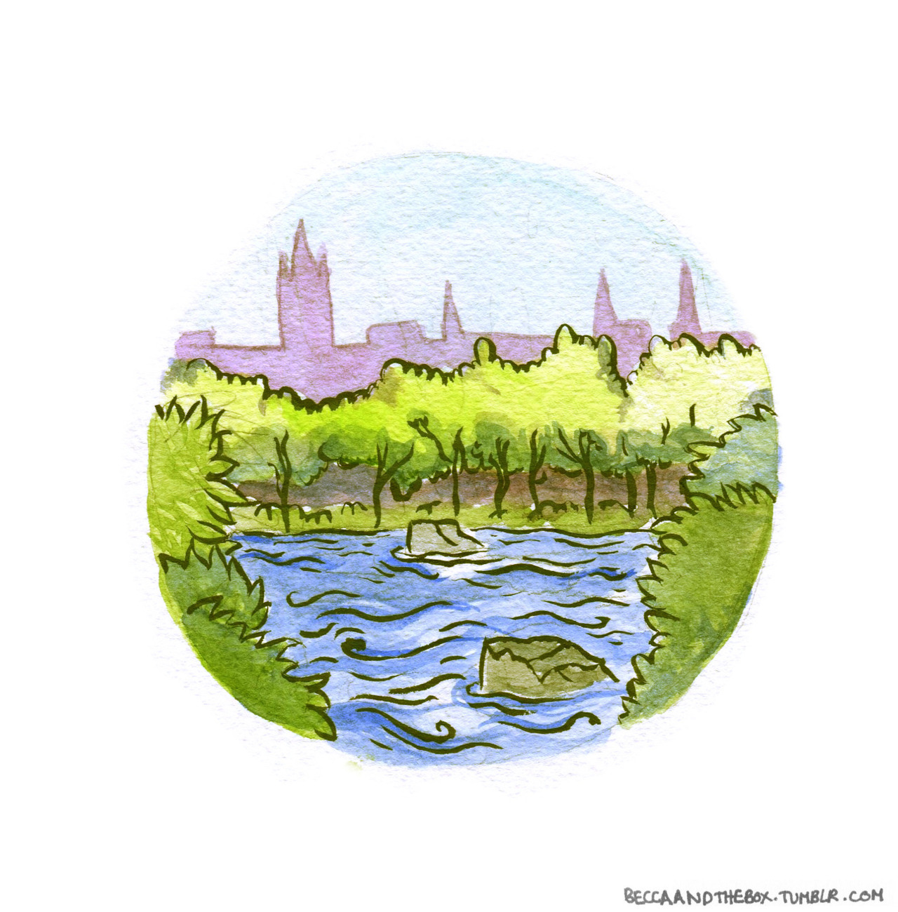 A tiny picture of Kelvingrove Park. In this weather I've been living there under the trees.