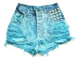 (via Shredded and studded high waist shorts XS by deathdiscolovesyou)