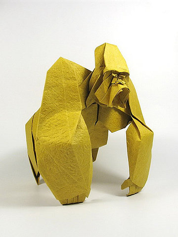 yellow paper gorilla