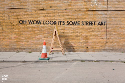 Street Art of the Day: Tired of Banksy? Subversive street artist Mobstr has surfaced in East London just in time. [ianbrooks]