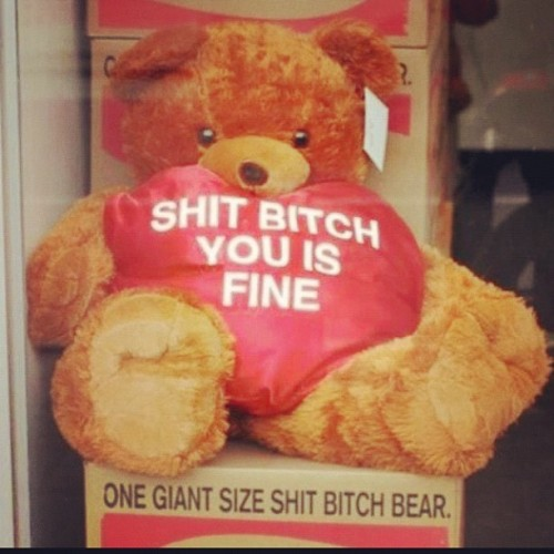 #fine #ratchet #haters #love #99cent #teddybear #soft #fluffy. The next girl I wanna buy a present for that woman getting this!!!! (Taken with instagram)