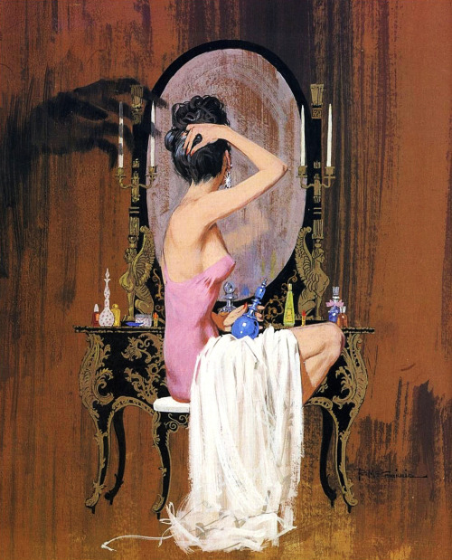 Cover illustration for Ngaio Marsh's False Scent by Robert McGinnis, 1961