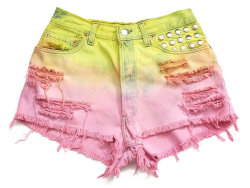 (via Pastel ombre high waisted shorts L by deathdiscolovesyou on Etsy)