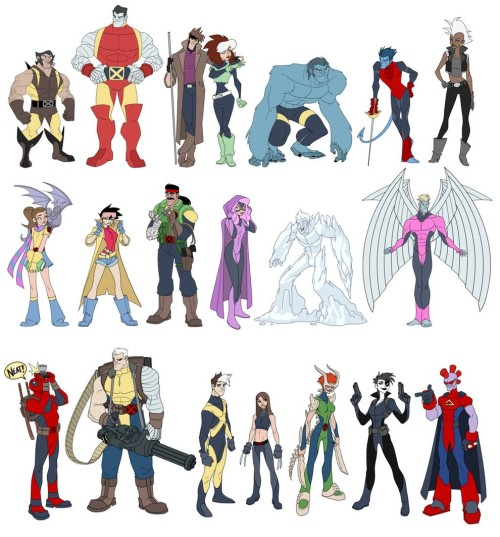 comicsalliance:  X-Men as Disney Characters by Matthew Humpreys.