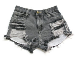 (via High waisted denim shorts XXS by deathdiscolovesyou on Etsy)