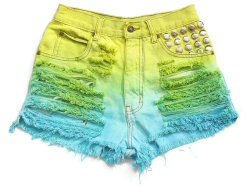 (via High waist dyed shorts XS by deathdiscolovesyou on Etsy)