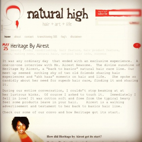 Back to Basics #naturalhair care with @heritage_brand  Be sure to check out the feature #products #beauty #fun  (Taken with instagram)