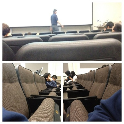 Everybody started their three day weekend early. #lonelylecture (Taken with instagram)