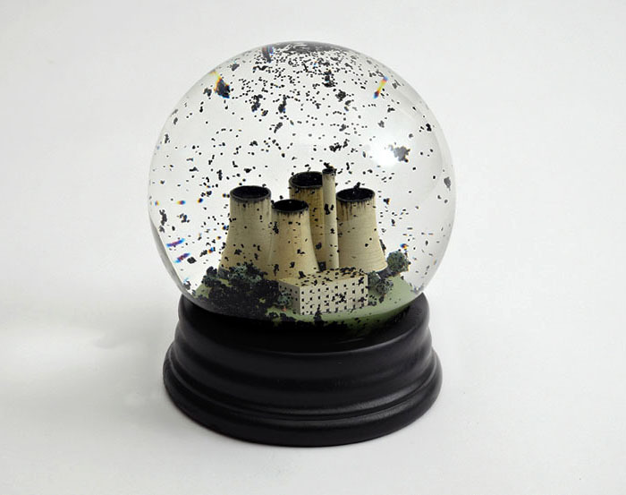 Snow globe designed by Dorothy for Ctrl.Alt.Shift in anticipation of the United Nations Climate Change Conference in Copenhagen 2009.