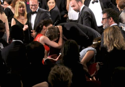 Kristen Stewart and Robert Pattinson share a lovely dovey moment at Cannes.