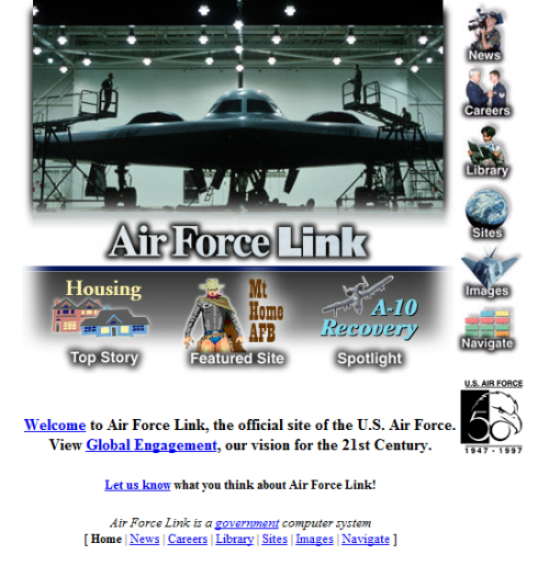 Af.mil (US Air Force) 1997