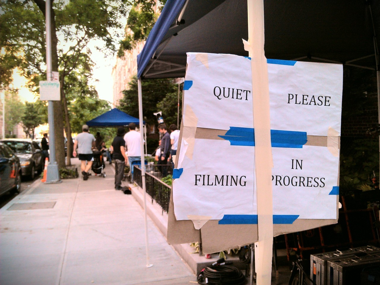 Film set, 77th Street.