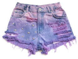 (via High waist jean shorts XXS by deathdiscolovesyou on Etsy)