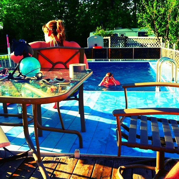 Relaxing poolside with naybs.  (Taken with instagram)