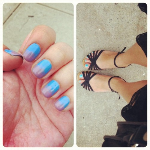 hands and toes 💅👣#Orly #PettitFour #Snowcone #Frisky #nails #nailpolish #toes #nailaddict #manicure #manipedi (Taken with instagram)