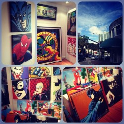 #coconutgrove #miami #city #grove #batman #art #paintings #thejoker #joker #catwoman #dccomics (Taken with instagram)