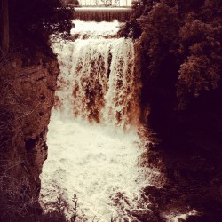 #hastings #minnesota #vermillionfalls #waterfall #water #nature #sepia (Taken with instagram)