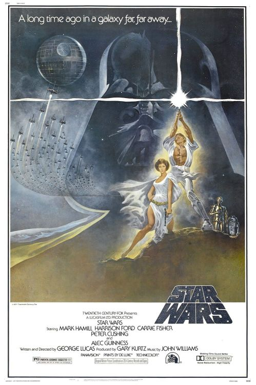 "veridicaldreams:  Star Wars opened today 35 years ago in 23 theaters across the United States.  I don't remember when I first saw it or what theater, but my earliest memory of life; the only memory I have of actually being small is of my dad holding me while I  watched the creature's cantina scene, and finding it wonderful. When I am able to catch that scene on the big screen (on the occasional re-release), I can still take myself back and be that small child looking up at wonder at the amazing creatures onscreen. Much older now, the words ""A long time ago, in a galaxy far away"" means allot more to me now."
