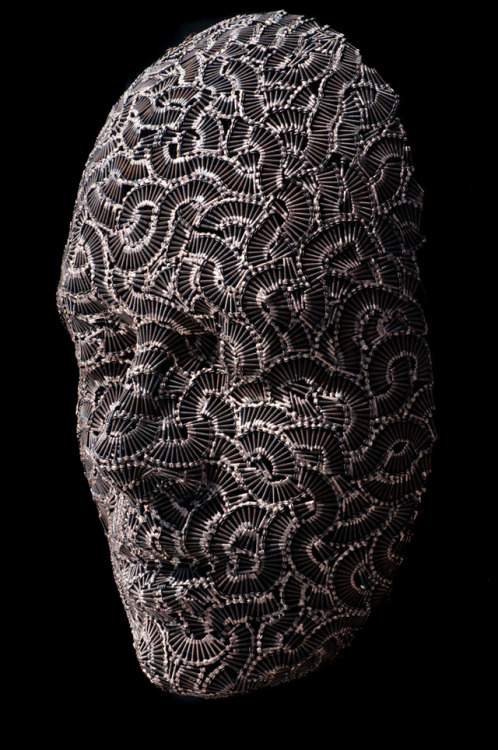 (via Masks and Heads Made from Moveable Type and Steel Hardware by Dale Dunning | Colossal)