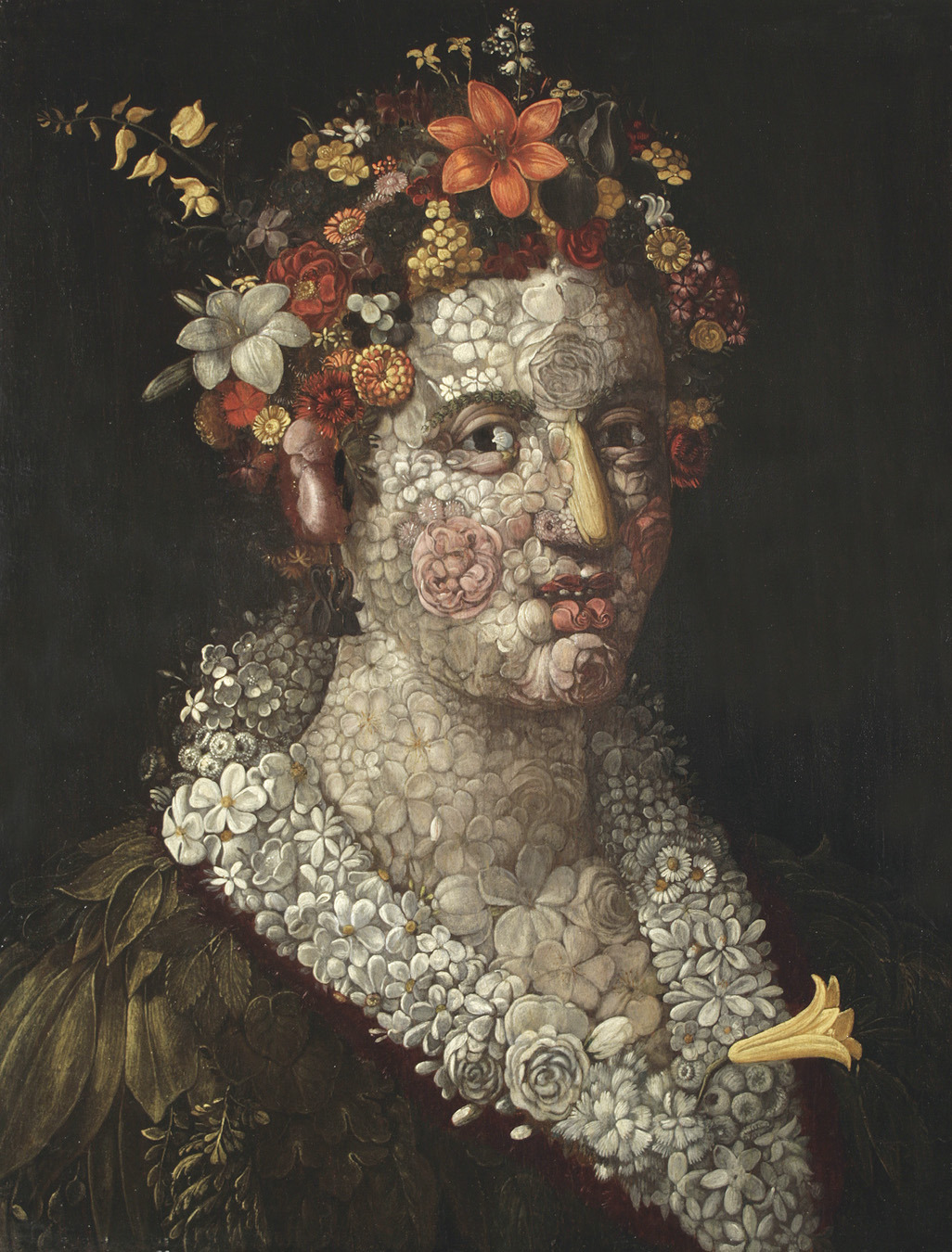 svell:  attributed to Giuseppe Arcimboldo, Flora, c. 1591.