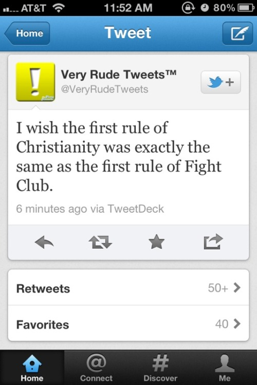 ih8religion:  @VeryRudeTweets