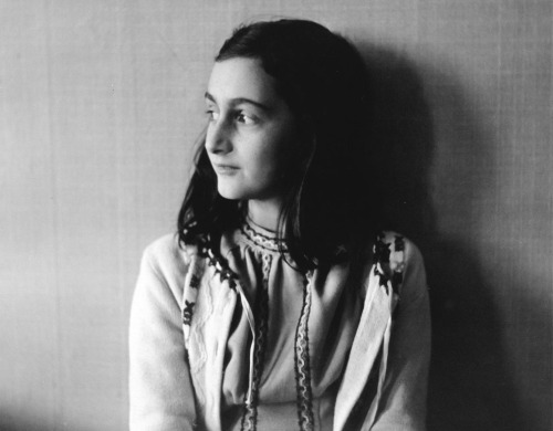 collective-history:  Anne Frank poses in 1941 in this photo made available by Anne Frank House in Amsterdam, Netherlands. In August of 1944, Anne, her family and others who were hiding from the occupying German Security forces, were all captured and shipped off to a series of prisons and concentration camps. Anne died from typhus at age 15 in Bergen-Belsen concentration camp, but her posthumously published diary has made her a symbol of all Jews killed in World War II. (AP Photo/Anne Frank House/Frans Dupont)