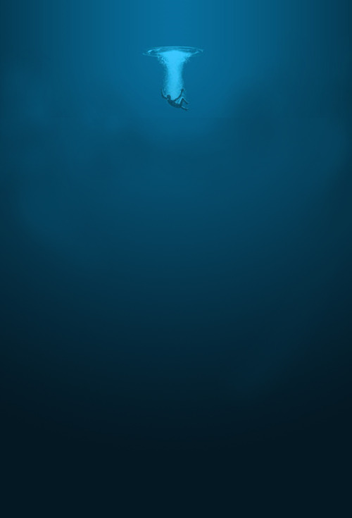 pkbucket:  oceanatdusk:  This is why the ocean scares me so much its not the sharks, nor the giant fucking squid its just the vast emptiness     I couldn't agree more I mean every time I see some one swim in the ocean it makes me so nervous because I'm like god do you even KNOW for sure what your swimming above? I mean look at it fucking look! D:  it's scary but it's also just so cool