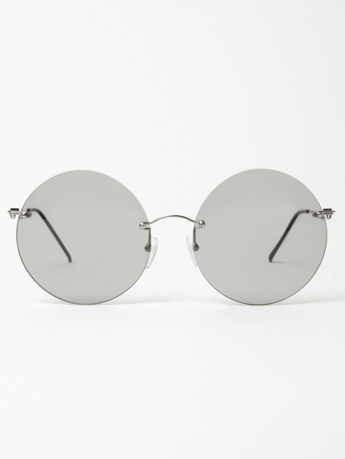 clothesolivelikes:  MAISON MARTIN MARGIELA 8 RIMLESS ROUND GLASSES