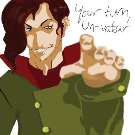 Sooo here's some Equalist! Tahno for y'all. Because maybe he's angry at Korra for still being able to bend, or for beating him in pro-bending. Maybe he's seen what it's like for non-benders and decided he wanted things to change. Or maybe I just wanted to see if he really could look cute in any color scheme (the answer is yes).