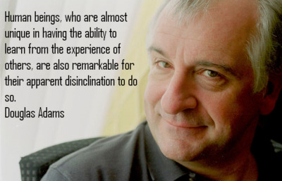helpmeitumbled:  geekfeed:  Douglas Adams  画  Nice bit of Douglas