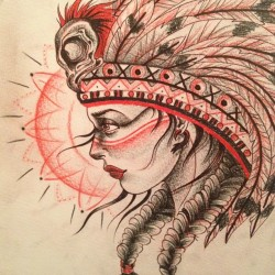 lauren-houlihan:  Native American lady (Taken with instagram)