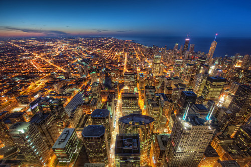 From the Skydeck: The City at Dusk by ShutterRunner on Flickr.
