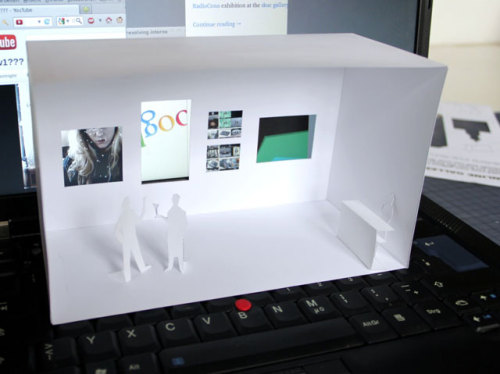 laughingsquid:  Online Gallery Playset, A Papercraft Gallery for the Internet