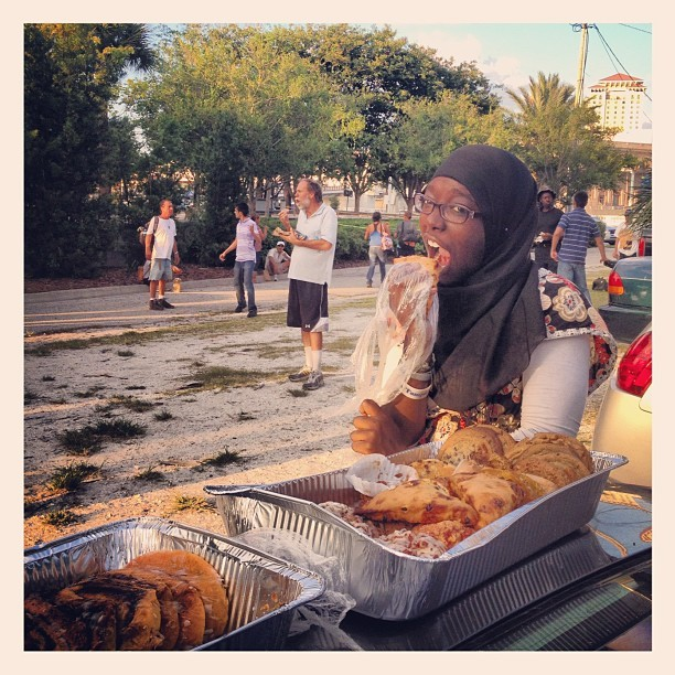 Hajjah steals the food when no one is looking. (Taken with instagram)