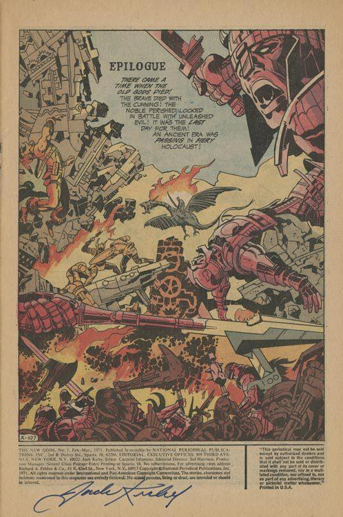 Signed by Jack for Kirby Museum trustee and honcho, Randolph Hoppe. According to Rand, Jack signed this page in 1975 at the Miami Con.  You should like us on Facebook…