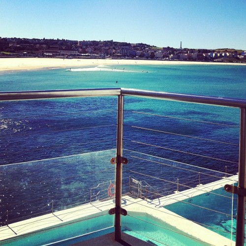 alexandrakoszo:  Swim and sauna with my love @phoebegreenacre xxx #Bondi #icebergs #health (Taken with Instagram at Bondi Icebergs)