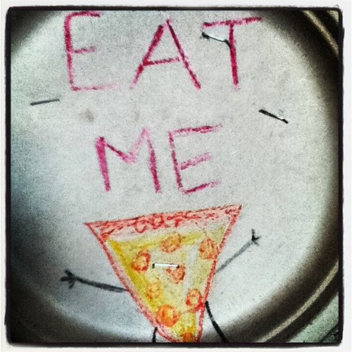 #pizza #funny #eatme (Taken with instagram)