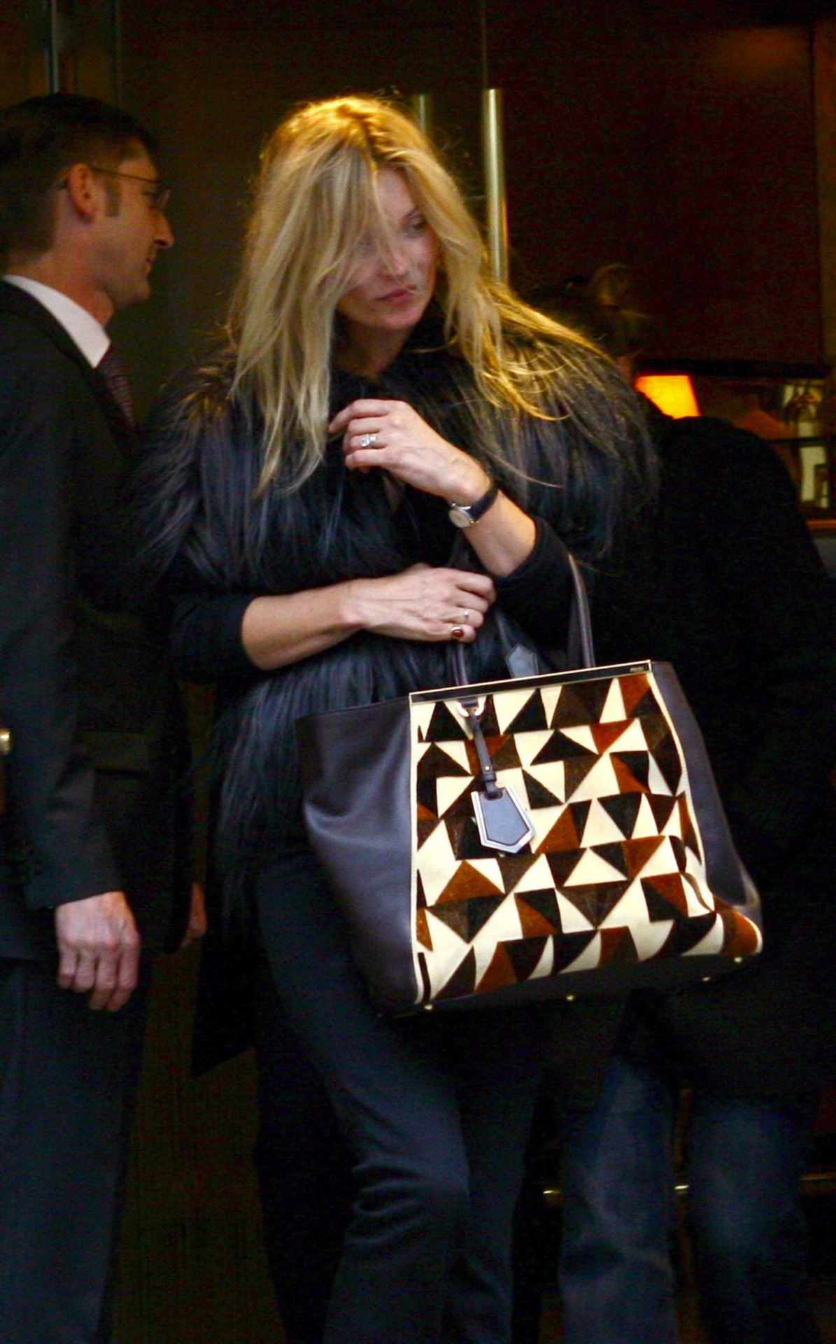 Kate Moss leaving restaurant Maison du Caviar in Paris on the 8th of May 2012.