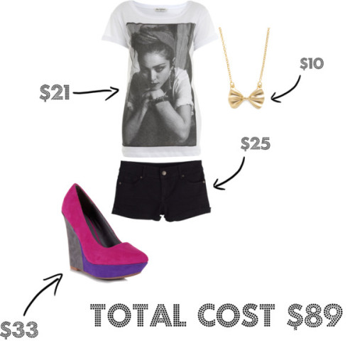 edgy glam by spotojessica featuring qupid shoesMiss Selfridge t shirt, $21Short shorts, $25Qupid shoes, $33Nickel free jewelry, $9.99