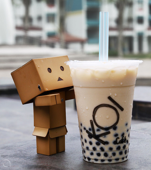 thesickestgourmand:  Bubble Tea with Danbo.